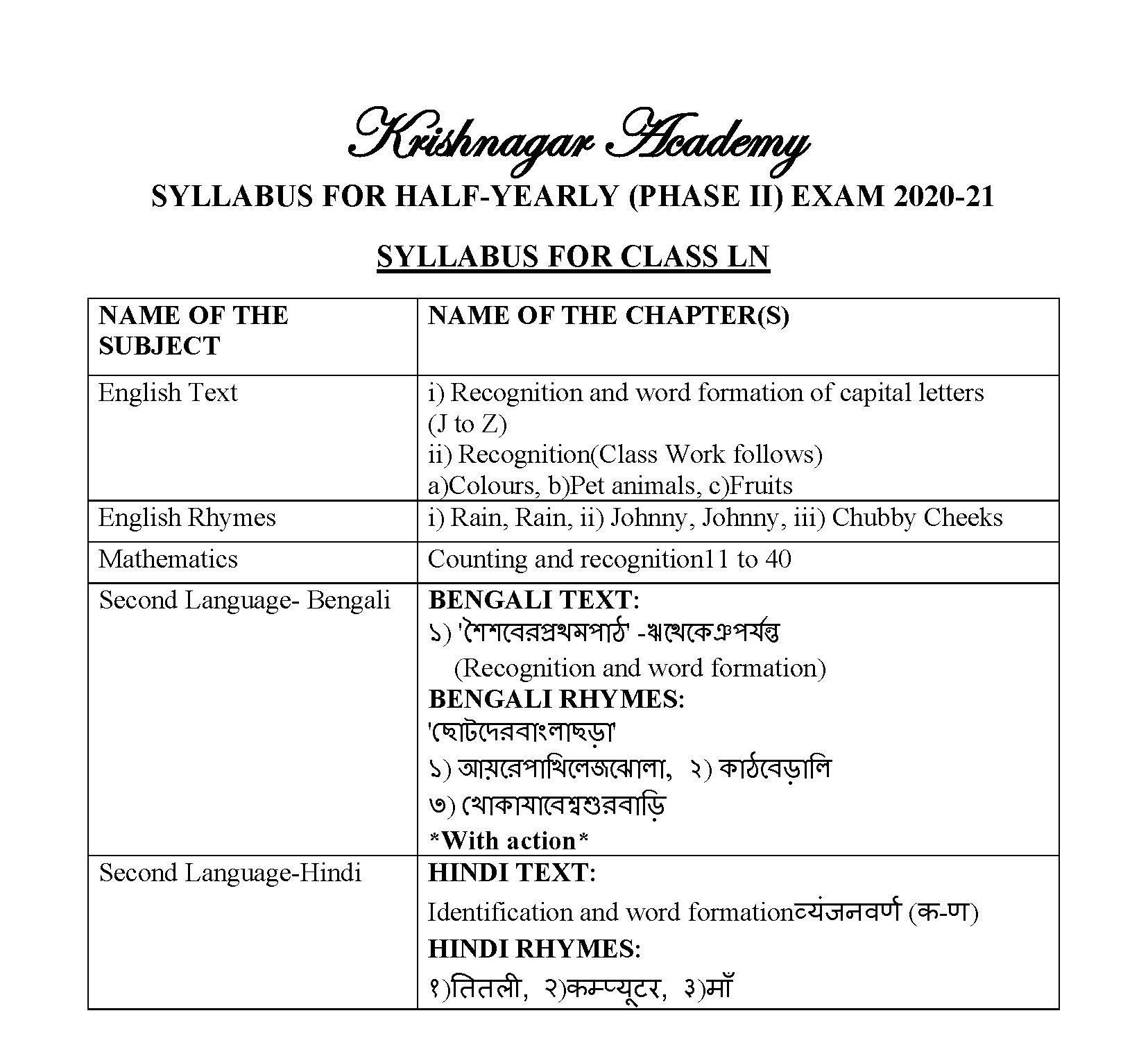 Updated Syllabus
